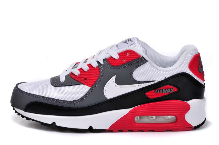 Nike Air Max Terra Ninety Homme, Nike Air Max 90 Homme Mid Gris Noir Blanc Rouge à Vendre Chaussures Pas Cher
