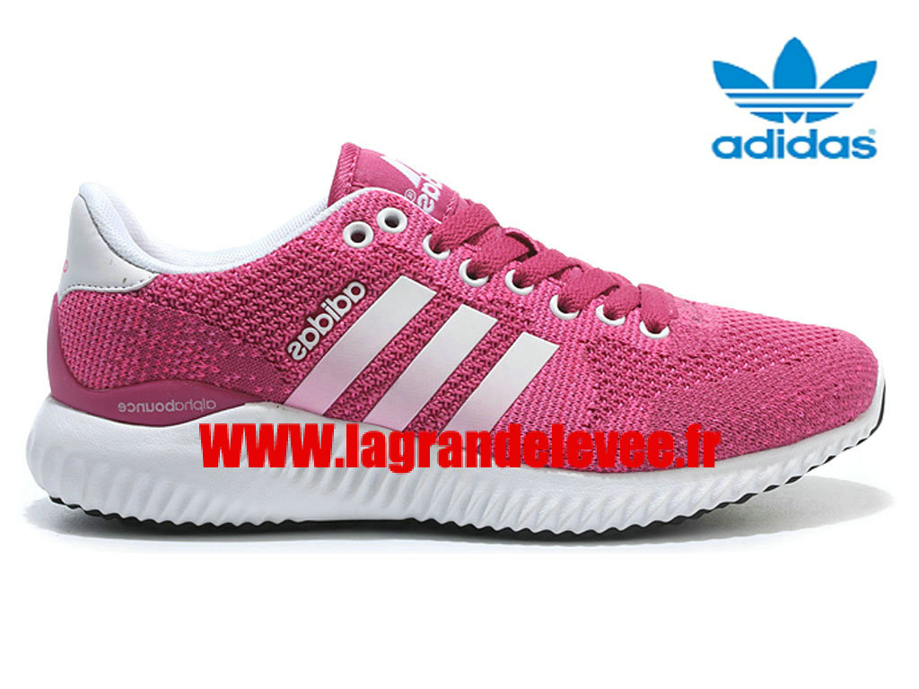 adidas alphabounce femme, Adidas AlphaBounce Flyknit - Chaussures Adidas Homme Femme Rose/Blanc B51616