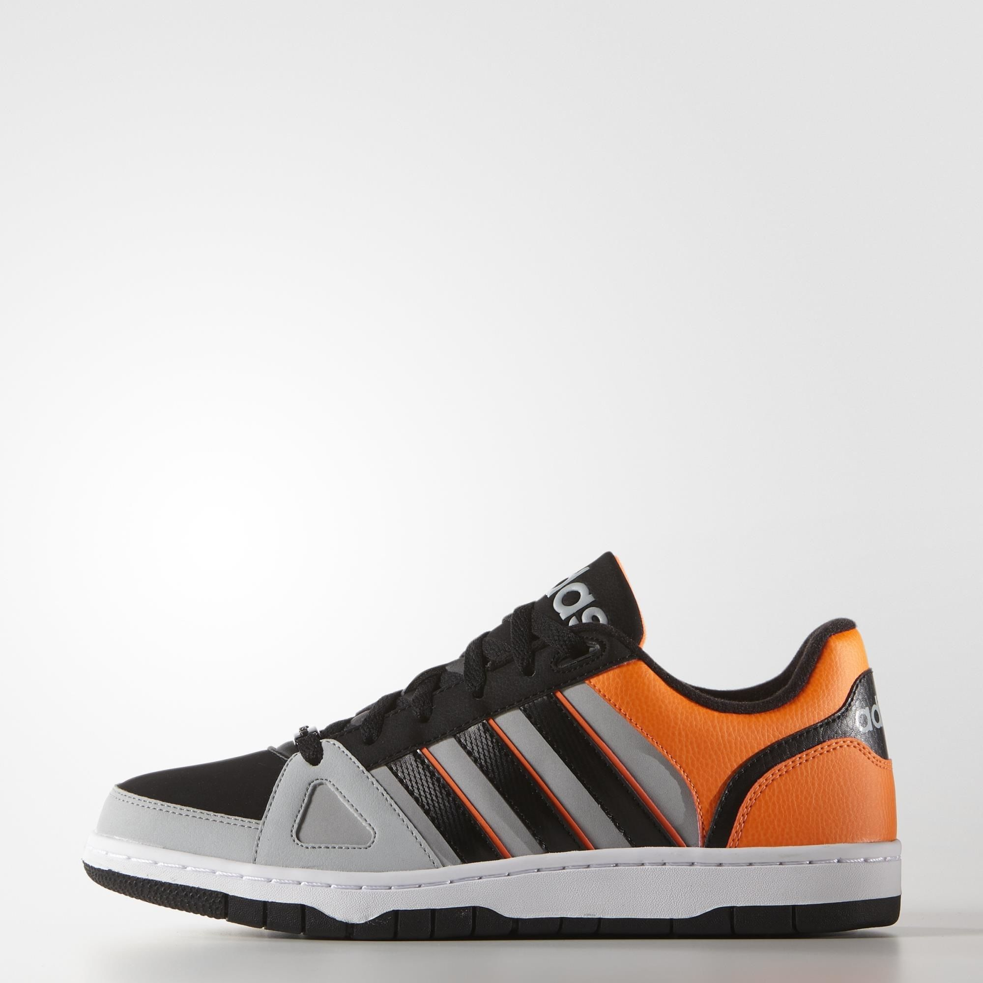 adidas neo daily team homme, De Luxe Adidas NEO Hoops Team Homme Onix/noir/solaire oranje Chaussure  DL30443