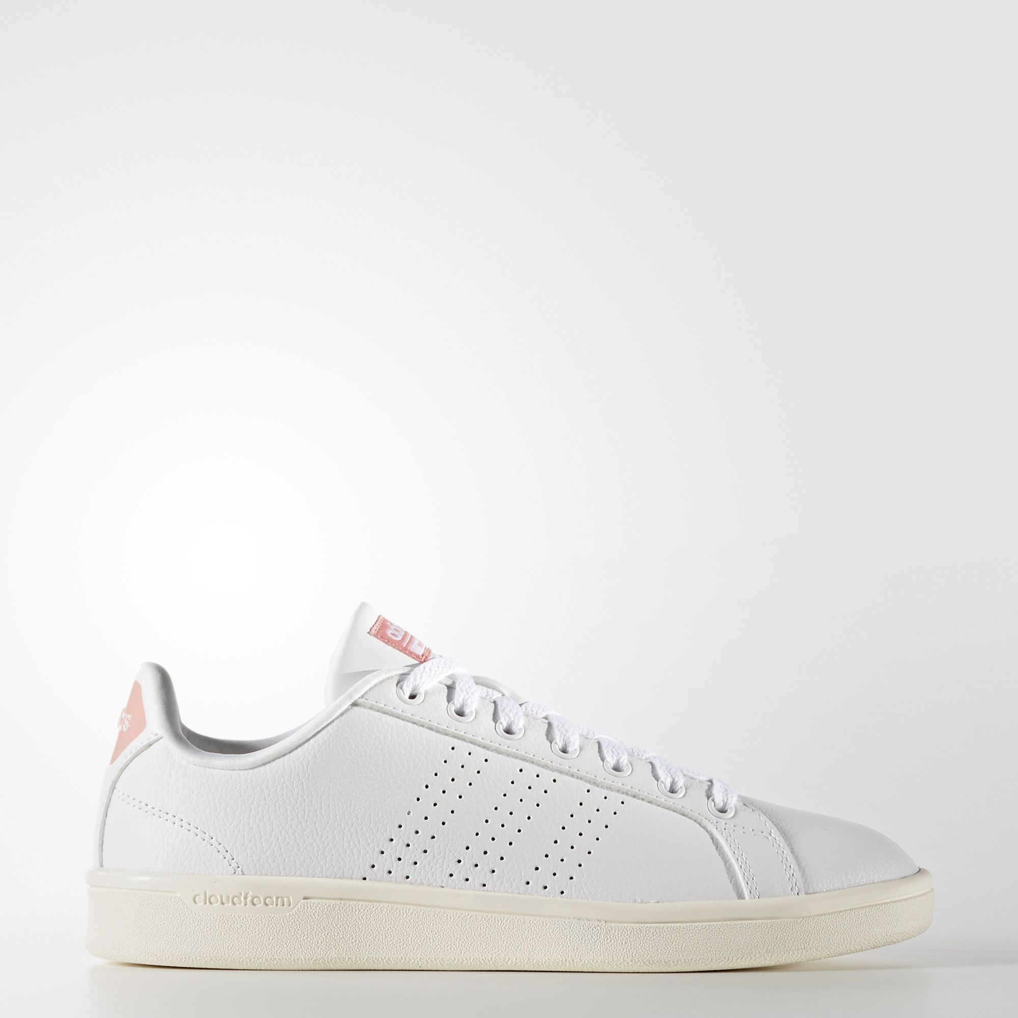 adidas neo femme, adidas - Chaussure Cloudfoam Advantage Clean Footwear White/Ray Pink AW3974