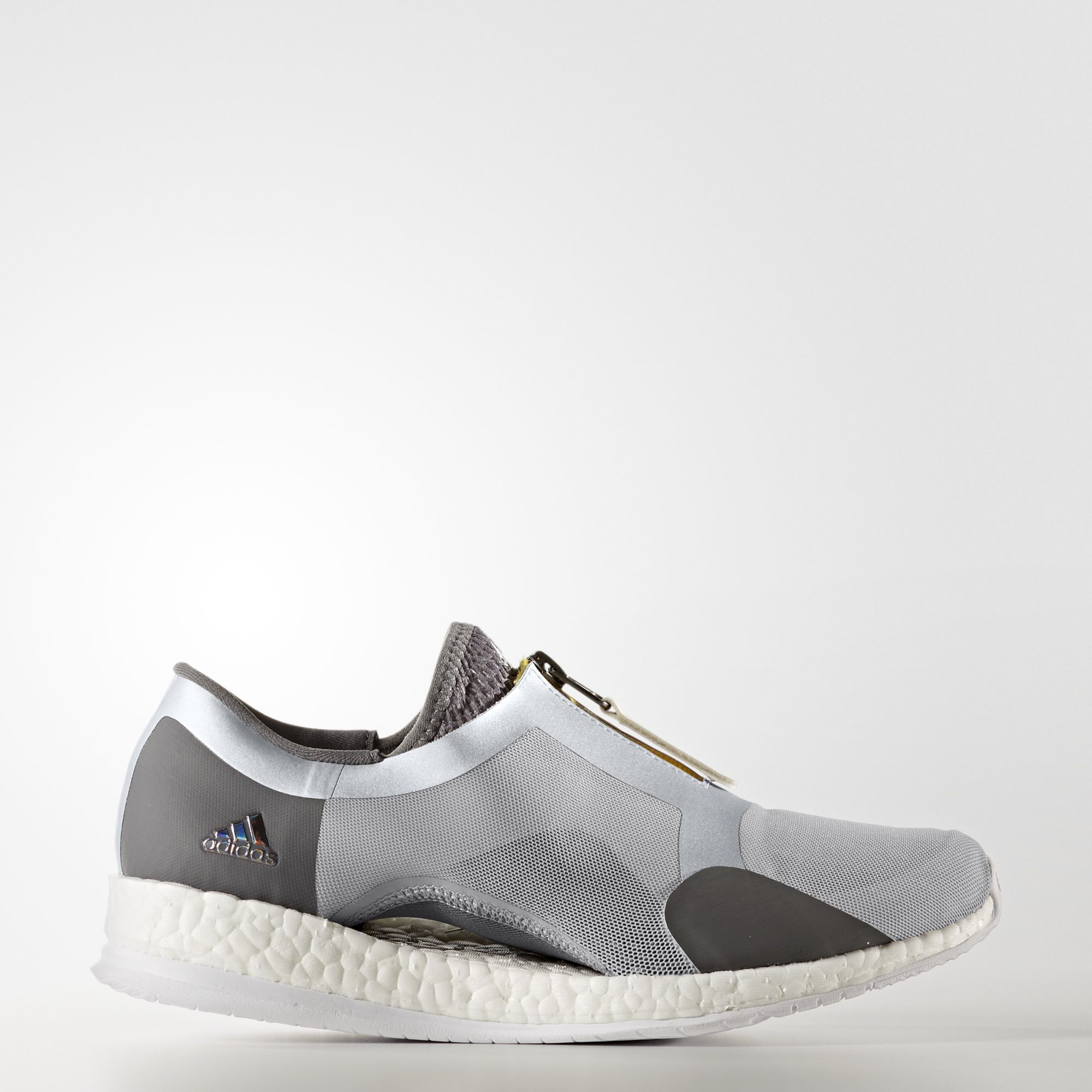 adidas pure boost femme, adidas - Chaussure Pure Boost X Trainer Zip Grey Two /Silver Metalic/Grey  Four