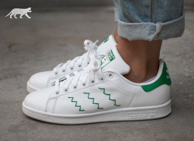 adidas stan smith homme, baskets-adidas-stan-smith-zig-zag-broderie-5