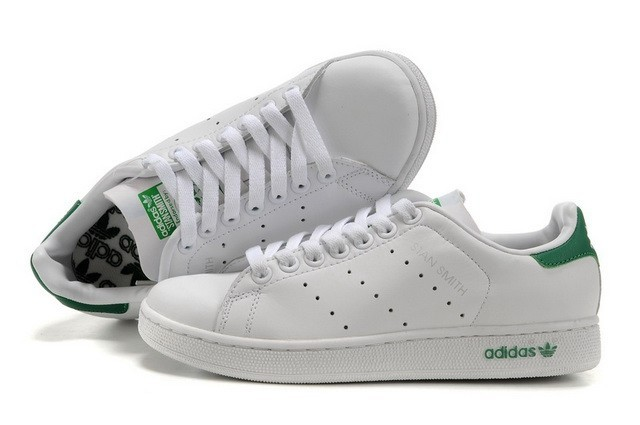 adidas stan smith homme, Femme Chaussures Pas Cher Adidas Stan Smith Blanc Vert-01 ...