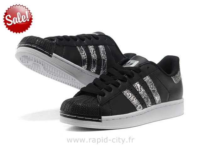 ADIDAS Superstar II Noir Argent Serpent Adidas Superstar Enfant,adidas superstar 360 enfants