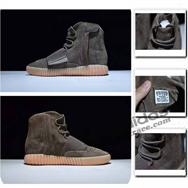 adidas yeezy boost 750 homme, Adidas Yeezy Boost 750 Nouvelle Chaussure Homme Montante Brun :aditrace