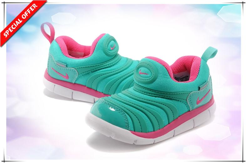 nike dynamo free, 343938-361 Atomic Green / Bright Pink / White Caterpillars Nike Dynamo Free  kids